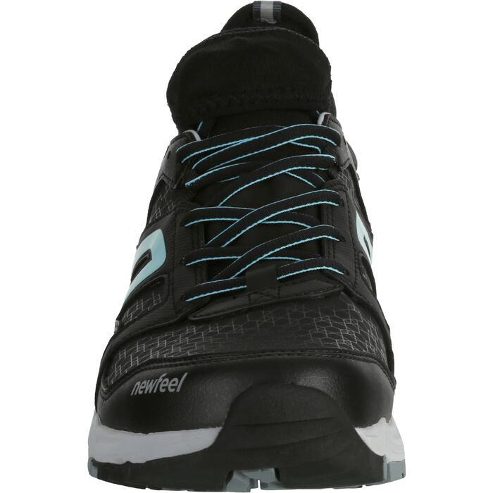 Zapatillas Marcha Nórdica Newfeel NW 589 Flex-H Waterproof Mujer Negro Azul