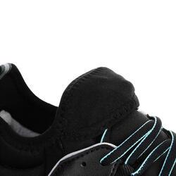 NordicWalkingschuhe NW580 FlexH wasserdicht Damen schwarz/blau