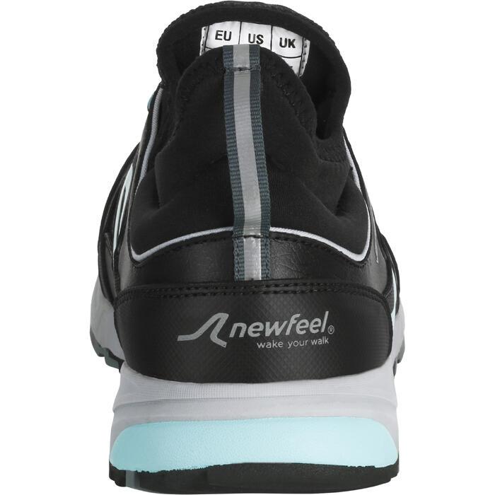 Chaussures marche nordique femme NW 580 Waterproof noir / bleu - 1181054