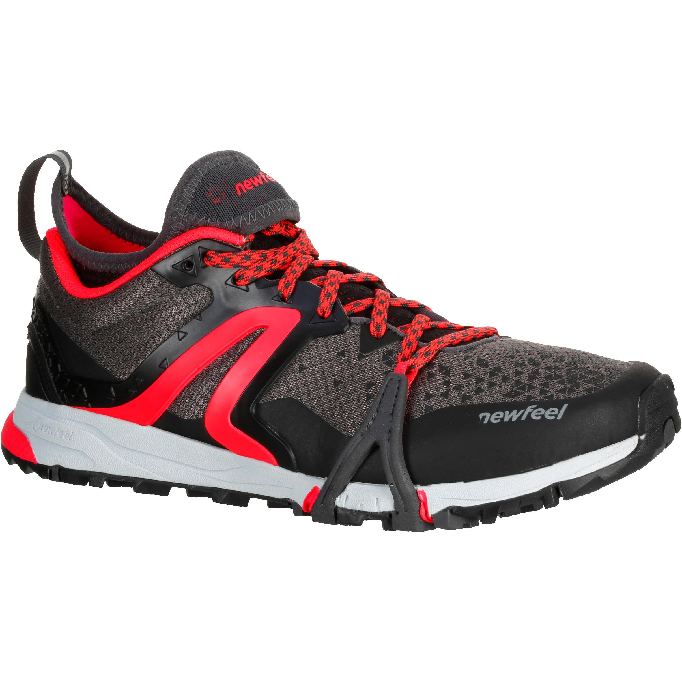 Newfeel Damessneakers Nordic Walking 900 voor nordic walking zwart/roze