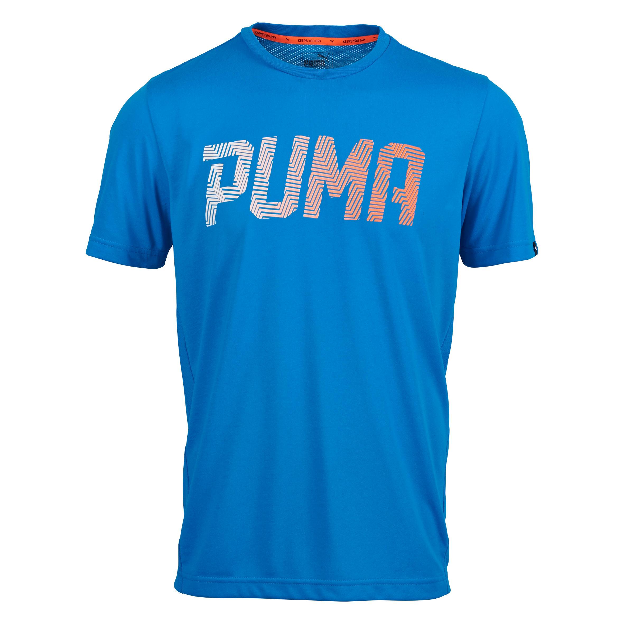 Puma Herenshirt voor gym en pilates blauw