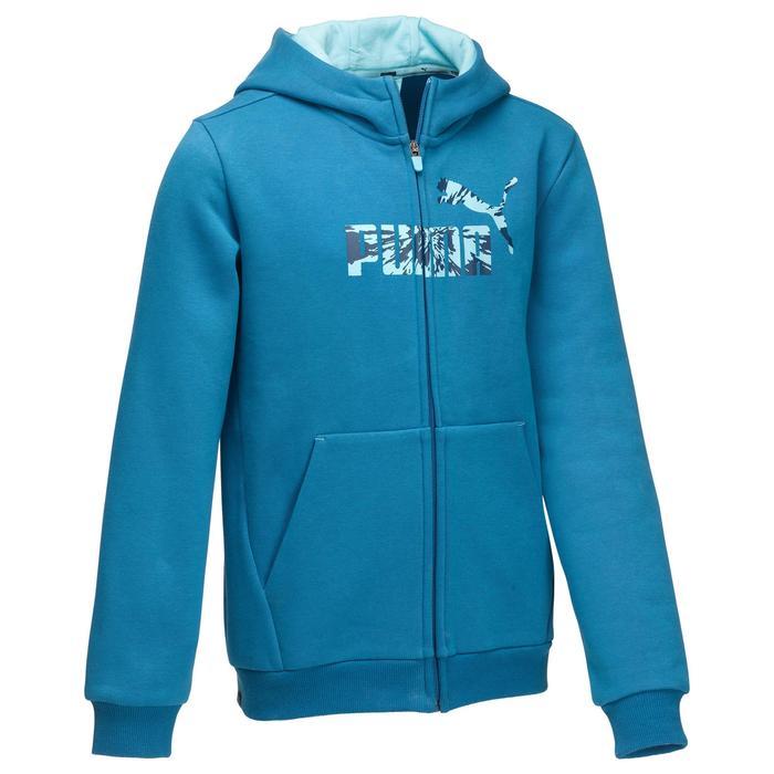 Veste molleton capuche zippée garçon bleu - 1181172