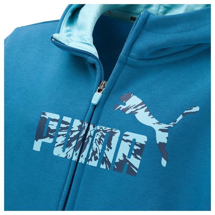 Veste molleton capuche zippée garçon bleu - 1181254