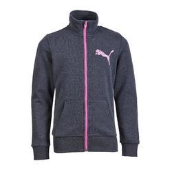 Molton hoodie met rits voor meisjes grijs