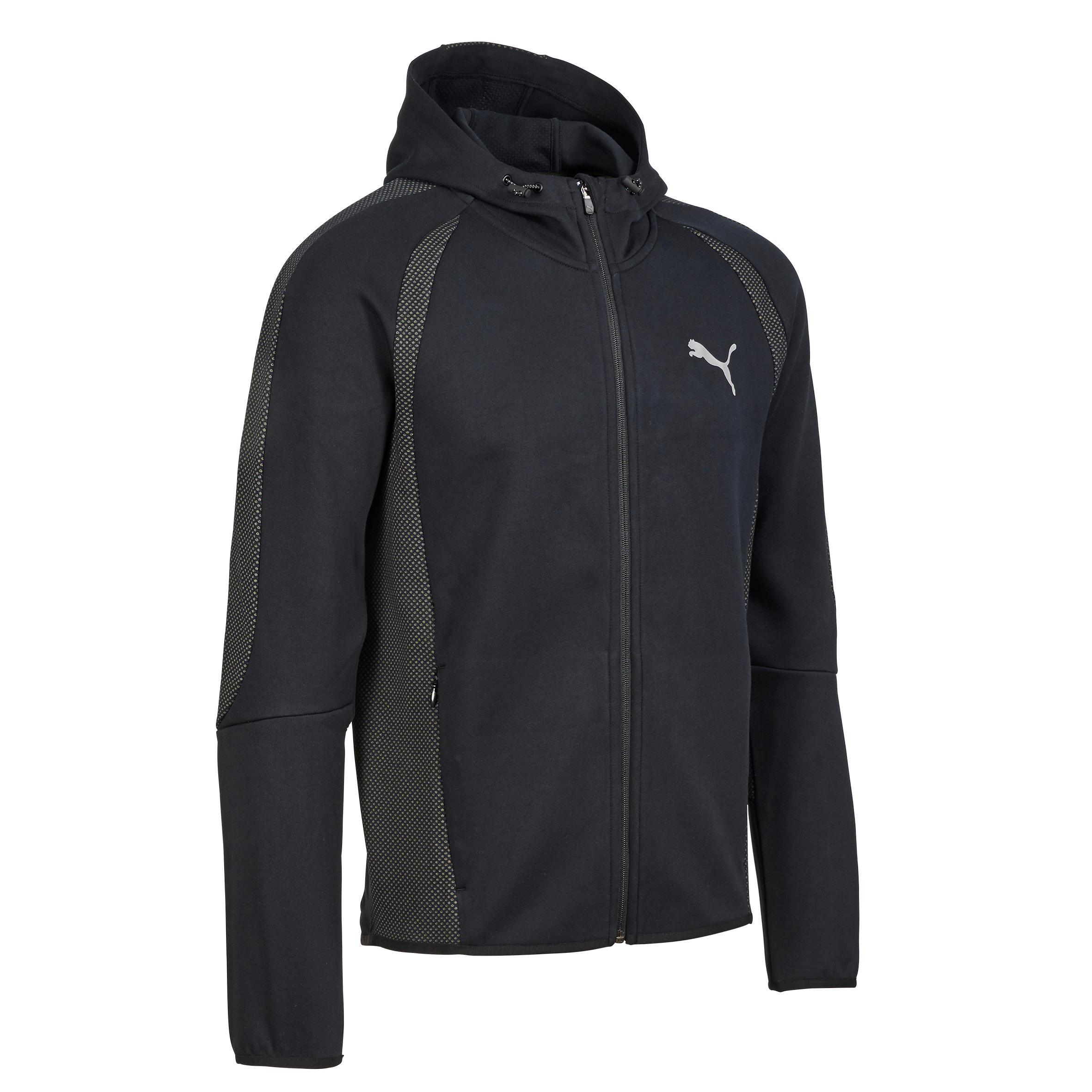 Puma Heren hoodie voor gym en pilates zwart