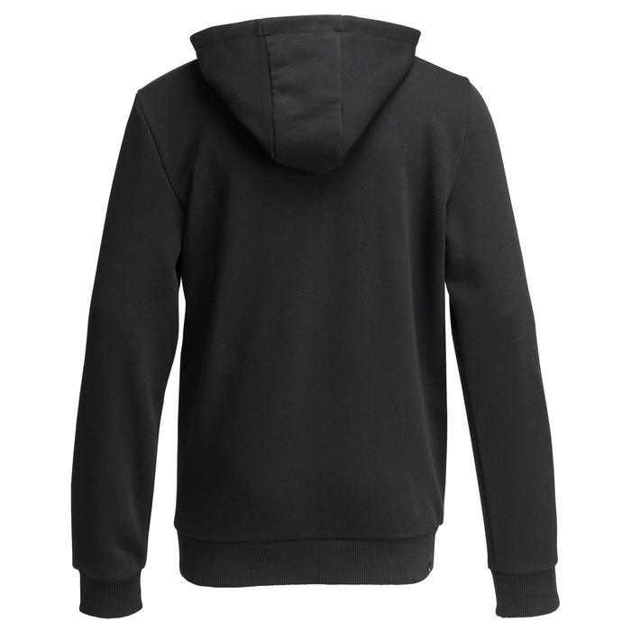 Molton vest voor jongens zwart