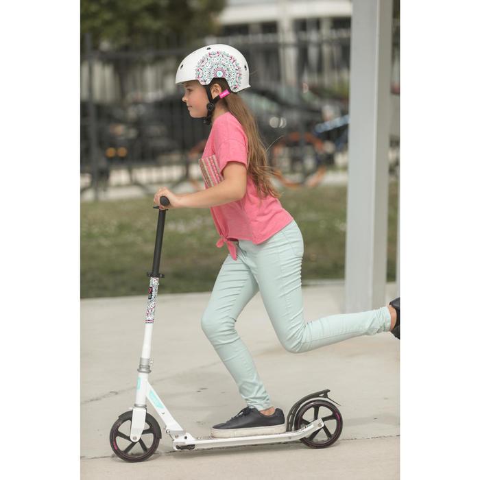 Skaterhelm Play7 Mandala für Inliner, Skateboard, Scooter weiß