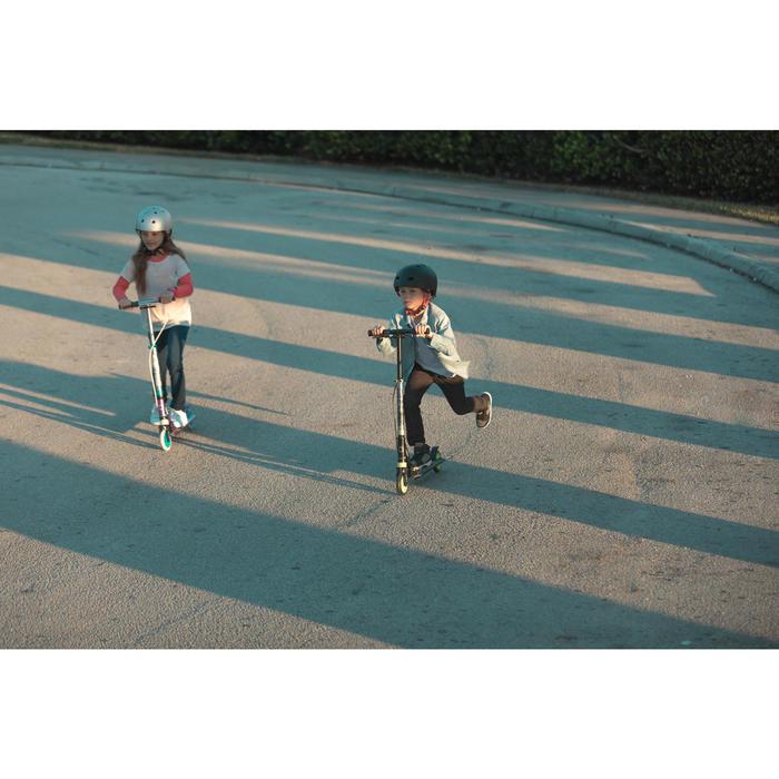 Fun-Scooter Mid5 mit Federung und Lenkerbremse Kinder violett