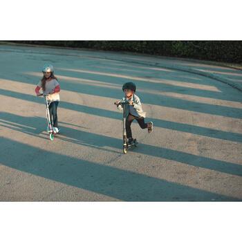 Step kinderen Mid 5 met vering en rem op stuur paars