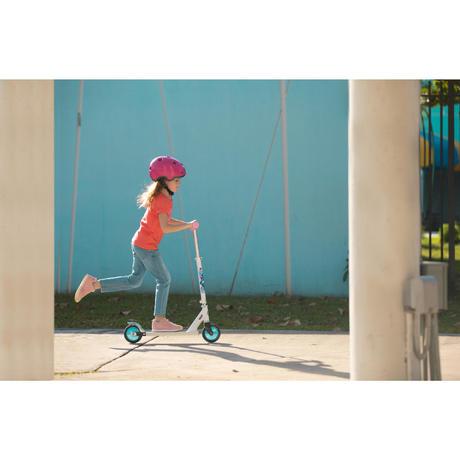 trottinette enfant play 3 blanche oxelo. Black Bedroom Furniture Sets. Home Design Ideas