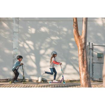 TROTTINETTE ENFANT MID5 AVEC FREIN AU GUIDON ET SUSPENSION VIOLETTE - 1181610