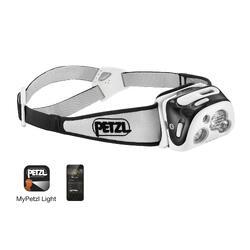 Linterna Frontal Montaña Trekking Petzl Conectada Reactik+ Blanco/Naranja