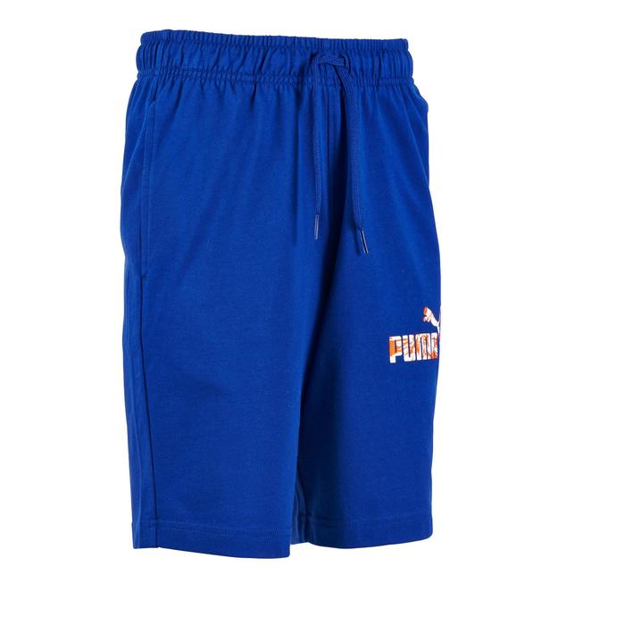 Short Fitness garçon bleu - 1181772