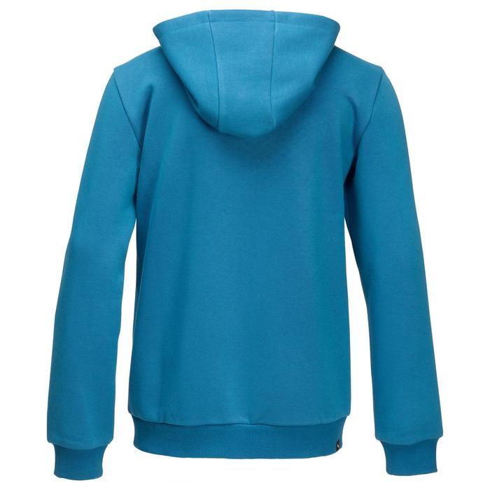 Veste molleton capuche zippée garçon bleu - 1181785