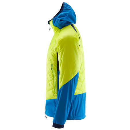 MEN'S Limited Edition HYBRID SPRINT insulating JACKET: aniseed green & blue