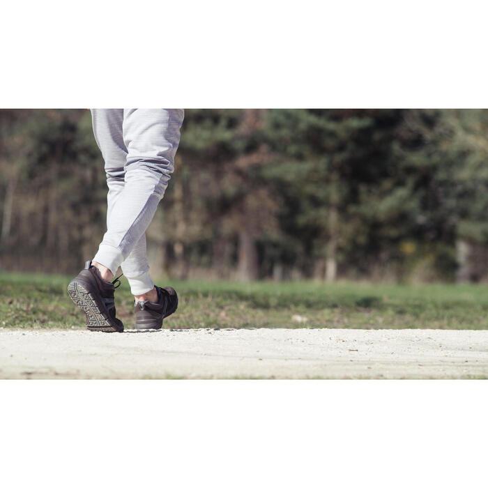 Leren herensneakers voor sportief wandelen HW 540 bruin