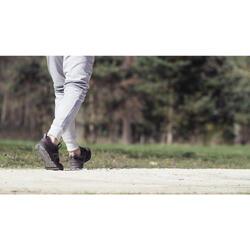 Walkingschuhe HW 540 Leder Herren schwarz