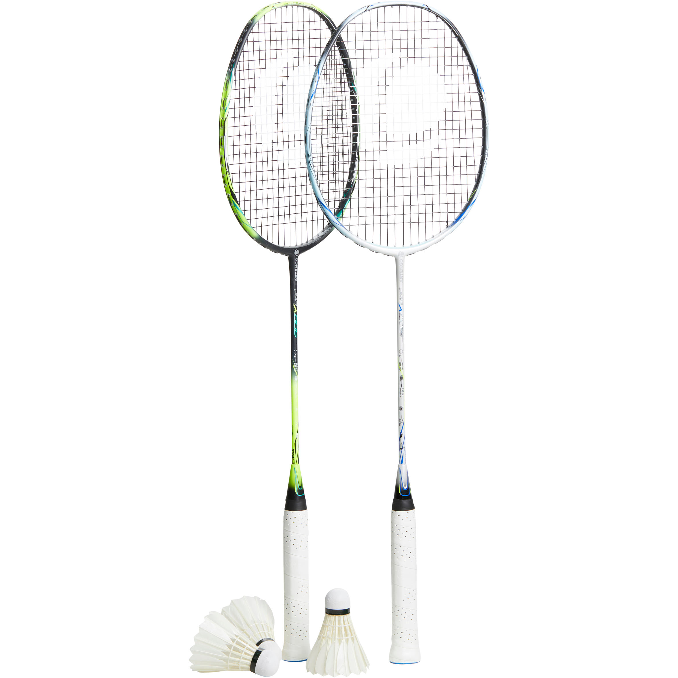 Artengo Set badmintonrackets volwassenen Pro Green White
