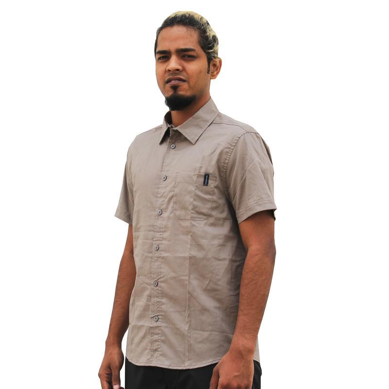 Arpenaz 20 Short-Sleeved Hiking Shirt - Beige