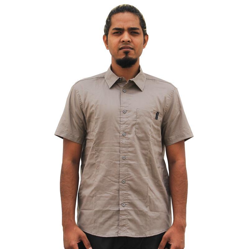 Men's Travel Shirt Arpenaz 20- Beige