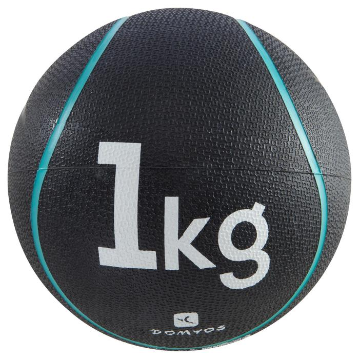 Balón Medicinal Lastrado Cross Training Pilates Domyos Toning 1kg Turquesa
