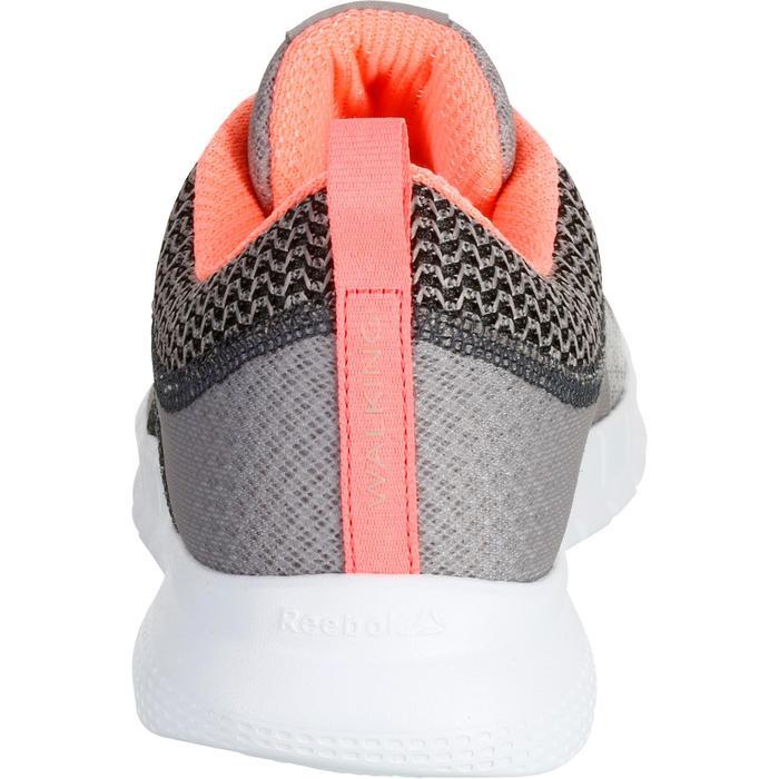 Chaussures marche sportive femme Soft Walk gris / corail - 1182516