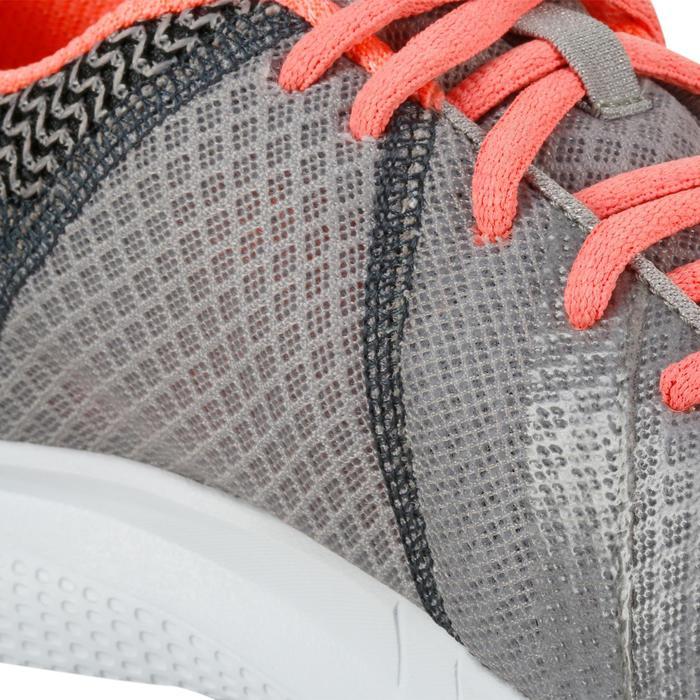 Chaussures marche sportive femme Soft Walk gris / corail - 1182562