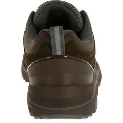 Herensneakers voor sportief wandelen HW 540 leer bruin