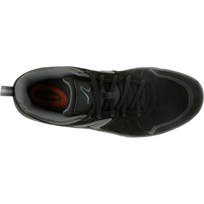 Herensneakers voor sportief wandelen HW 540 leer zwart