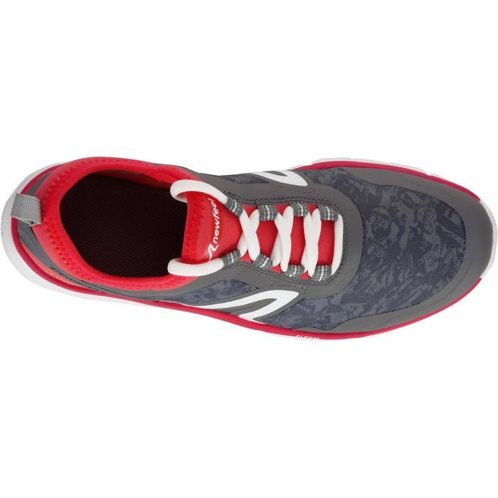 Damessneakers voor sportief wandelen PW 580 waterproof grijs / roze