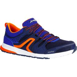 PW 240 men's fitness walking shoes blue/orange