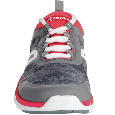 f3841b00e PW 580 Women s Waterproof Fitness Walking Shoes - Grey Pink - Decathlon