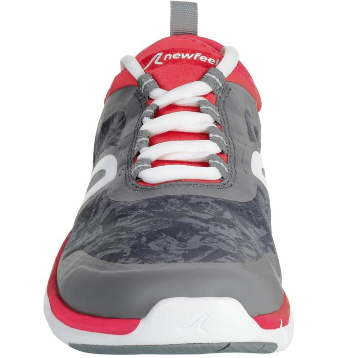 Chaussures marche sportive femme PW 580 Waterproof gris / rose