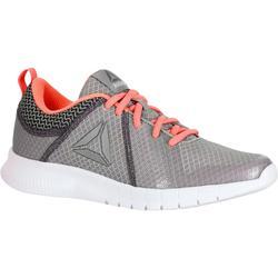 Damessneakers voor sportief wandelen Soft Walk grijs / koraalrood