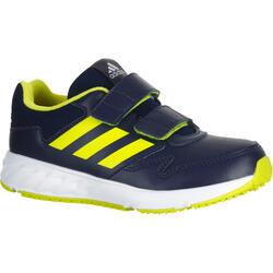 Zapatillas marcha deportiva niños Fastwalk2 tira autoadherente azul/amarillo