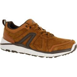 HW 540 男士皮革製健行運動鞋 - 棕色