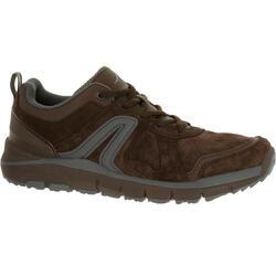 Leren herensneakers voor sportief wandelen HW 540