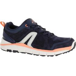 HW 540 Leather Women's Fitness Walking Shoes - Grey/Pink