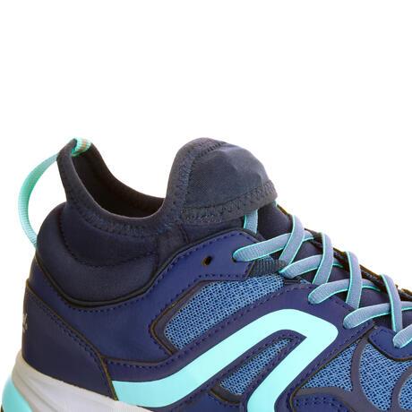 chaussures marche nordique femme nordic walking 500 bleu newfeel. Black Bedroom Furniture Sets. Home Design Ideas