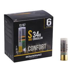 CARTUCHO S900 34 g CONFORT CALIBRE 12/67 PERDIGÓN N°6 X25