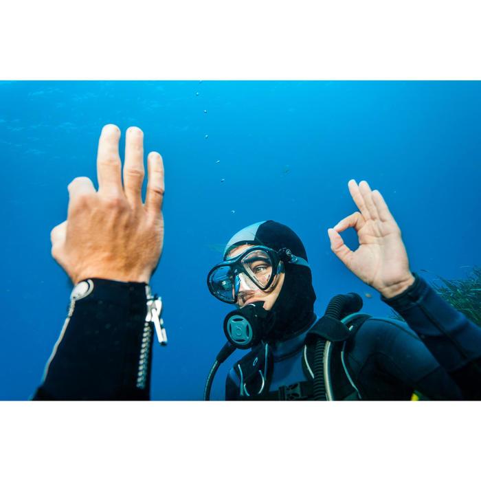 Cagoule de plongée sous-marine en néoprène SCD 100 4/3/2 mm