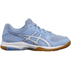 Badminton-/squashschoenen voor dames Gel Rocket 7 blauw/wit