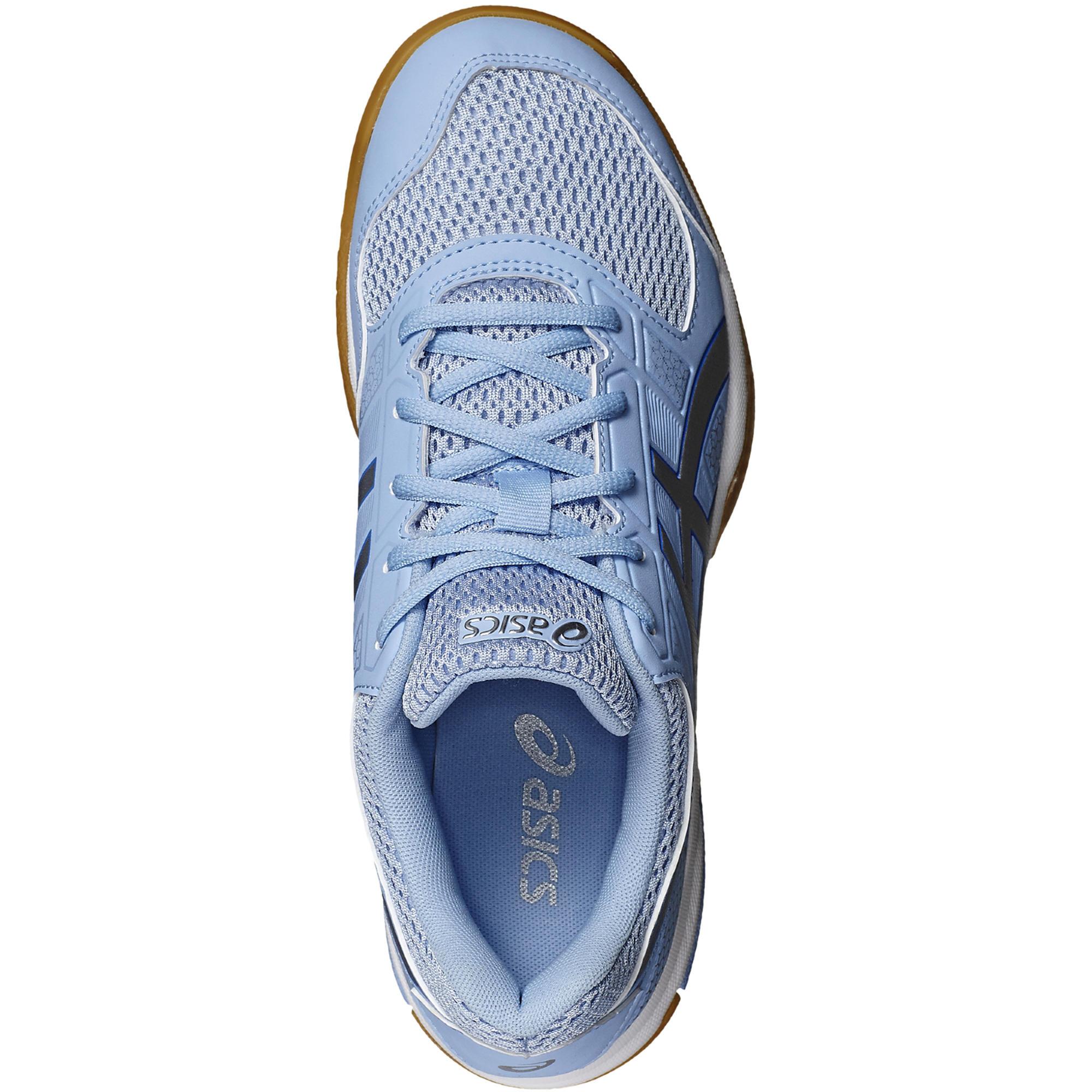 chaussures asics femme indoor gel rocket 7 bleu