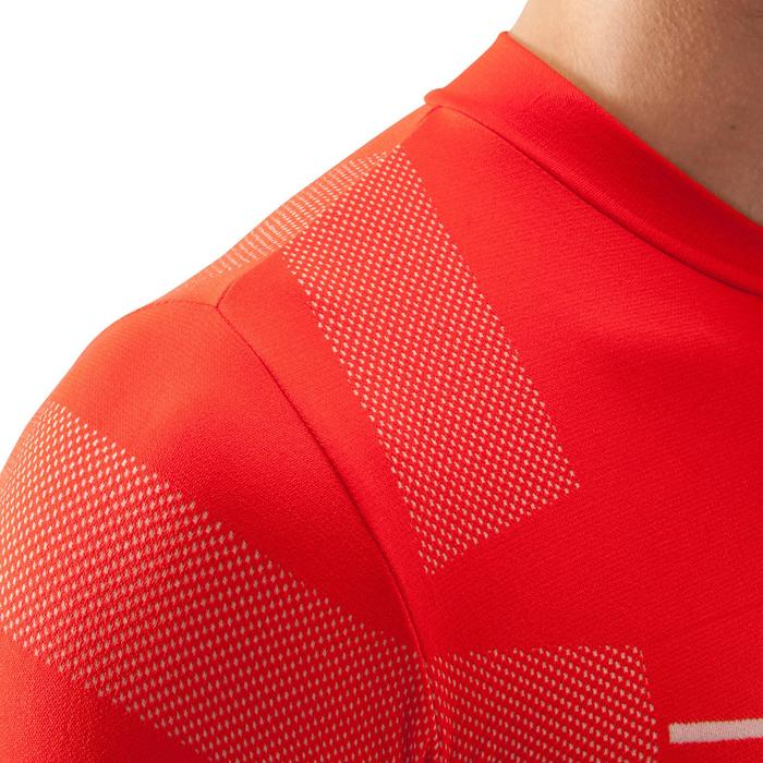Camiseta térmica de fútbol de manga larga adulto Keepdry 500 rojo