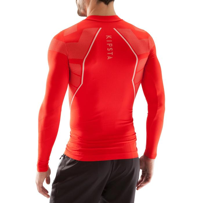 Sous maillot de football manches longues adulte Keepdry 500 rouge