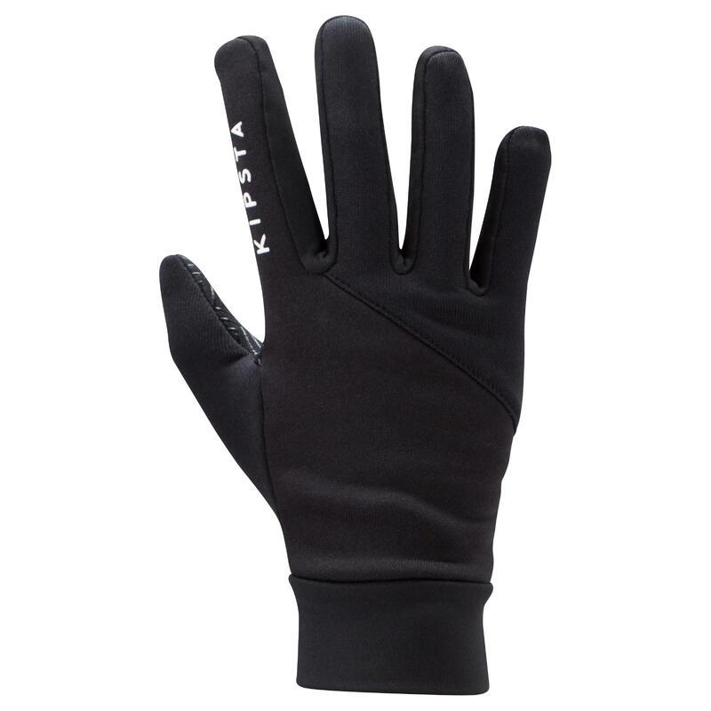 Keepdry 500 Kids' Soccer Gloves - Black