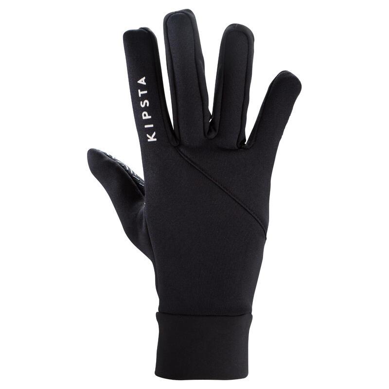 Handschoenen voor voetbal volwassenen Keepdry 500 zwart