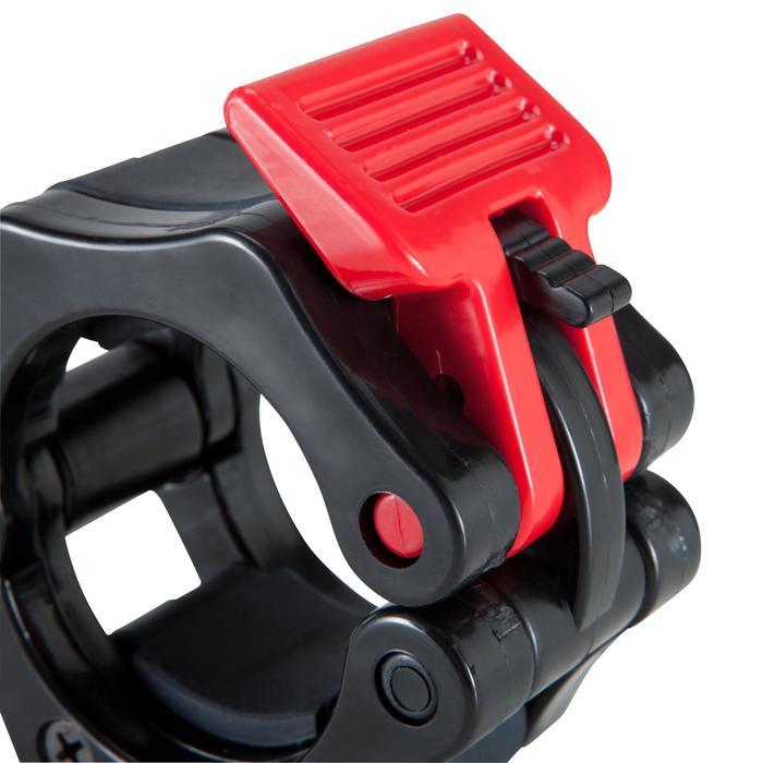 Bloqueadores Musculación Domyos Para Discos Barras 50mm Negro/Rojo