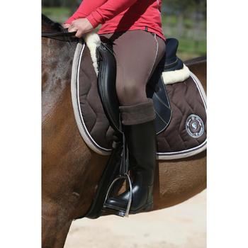 Amortisseur de dos laine équitation cheval et poney LENA beige