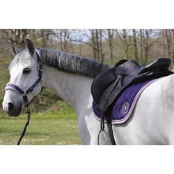 Amortisseur de dos laine équitation cheval et poney LENA noir